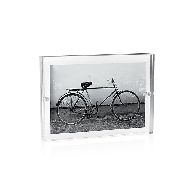 Acrylic 4x6 Block Picture Frame + Reviews | Crate and Barrel
