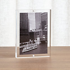 acrylic 4x6 block picture frame reviews crate and barrel. Black Bedroom Furniture Sets. Home Design Ideas