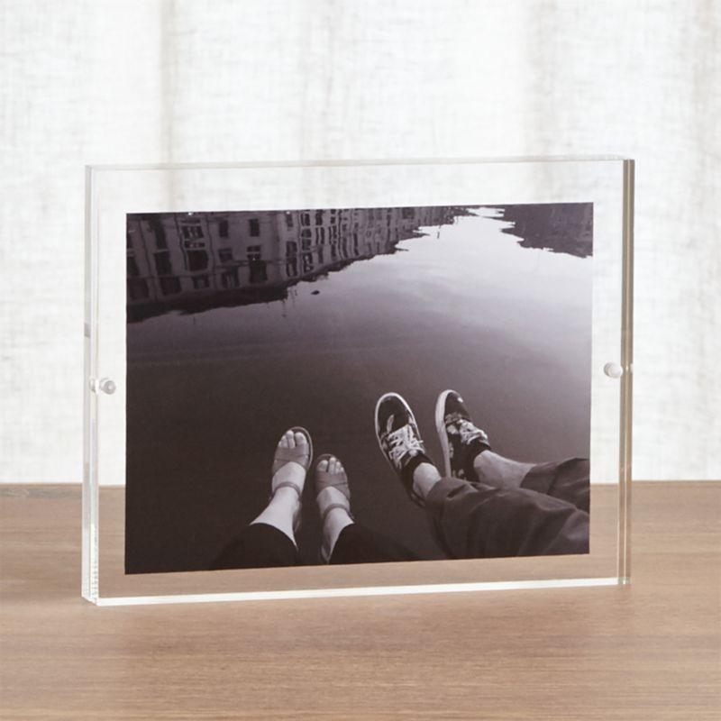 Acrylic 6x8 Block Picture Frame + Reviews | Crate and Barrel
