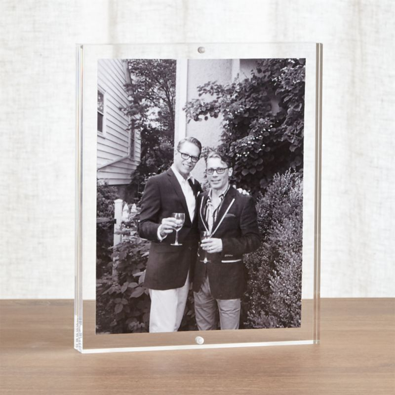 Acrylic 8x10 Block Picture Frame Reviews Crate And Barrel