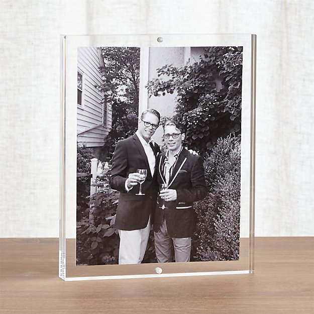 Acrylic 8x10 Block Picture Frame