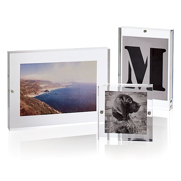 Acrylic 8x10 Block Picture Frame In Picture Frames