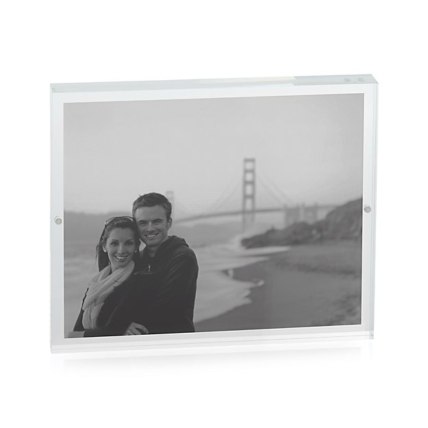 Acrylic 8x10 Block Picture Frame + Reviews | Crate and Barrel