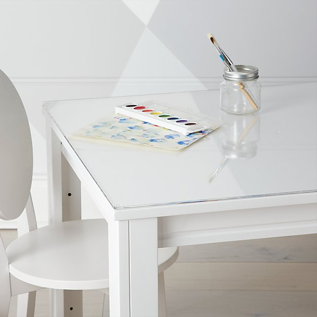 Small Acrylic Kids Table Mat Reviews Crate And Barrel