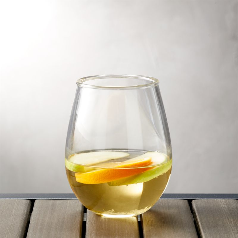 Acrylic Stemless Wine Glass Reviews Crate And Barrel