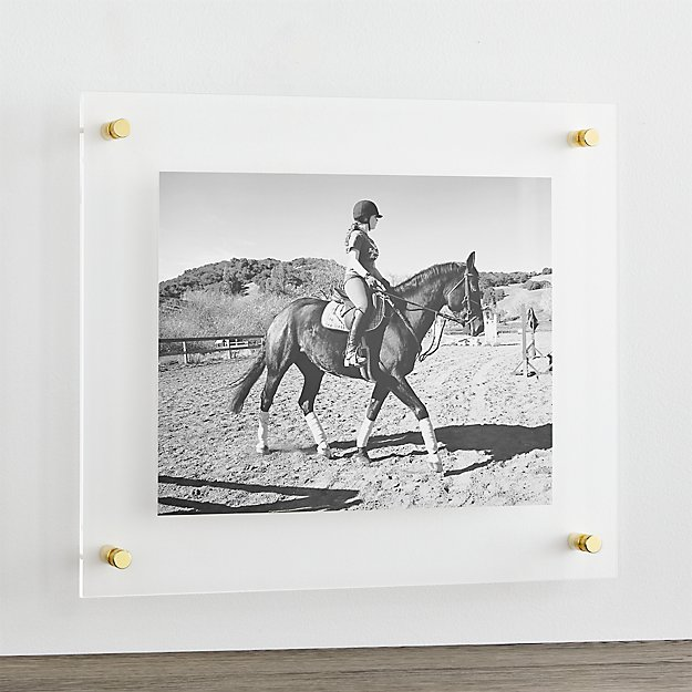 Brass 19 Quot X16 Quot Floating Acrylic Wall Frame Reviews