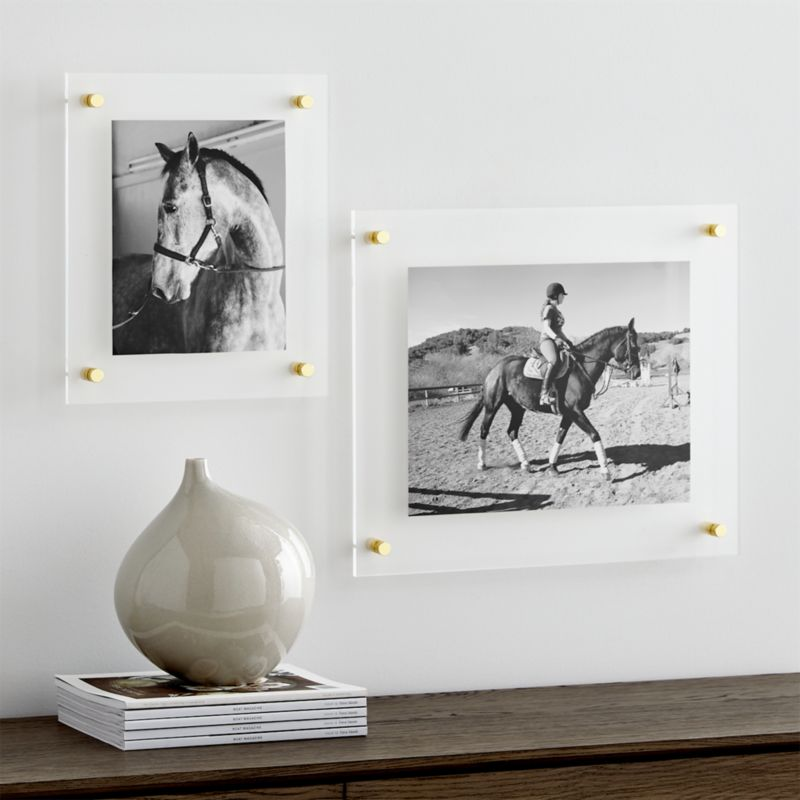 Brass Floating Acrylic Wall Frame & Picture Frames for Photos and Wall Art | Crate and Barrel