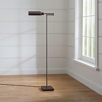 Adjustable floor lamps crate and barrel adams bronze pharmacy floor lamp aloadofball Choice Image