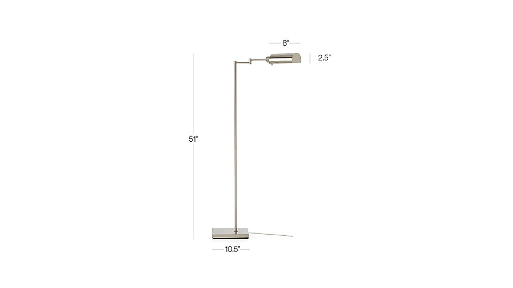 adams nickel pharmacy floor lamp dimensions