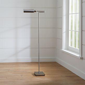 Adams Nickel Pharmacy Floor Lamp