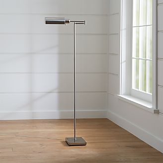 Chic floor lamps to brighten your home crate and barrel adams nickel pharmacy floor lamp mozeypictures Choice Image
