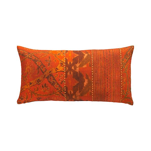 """Adar 24""""x12"""" Pillow with Feather-Down Insert"""
