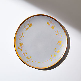 Addison Gold Leaves Salad Plate