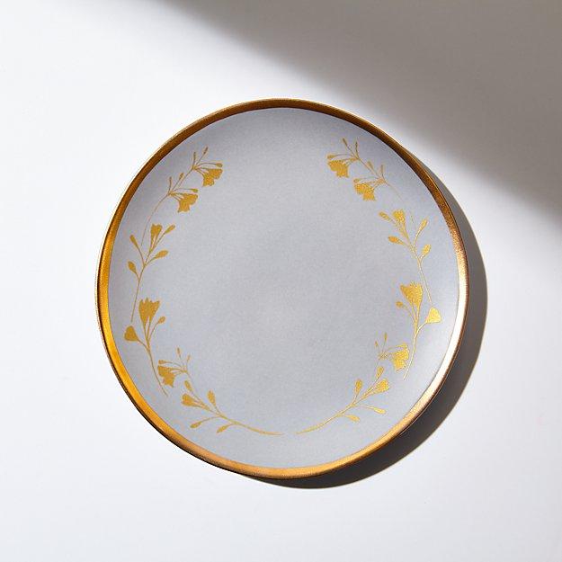 Addison Gold Leaves Salad Plate - Image 1 of 4