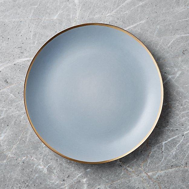Addison Grey Gold Rim Dinner Plate - Image 1 of 6