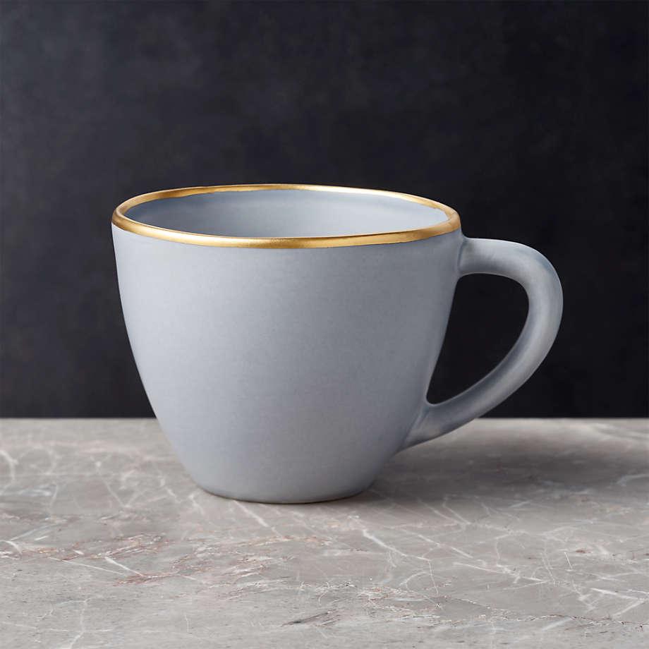 Viewing product image Addison Grey Gold Rim Mug