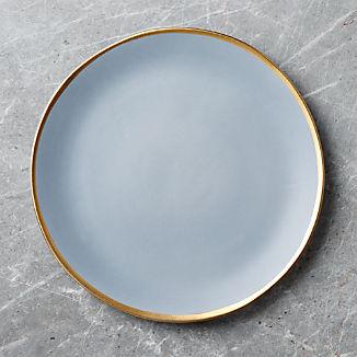 Addison Grey Gold Rim Platter