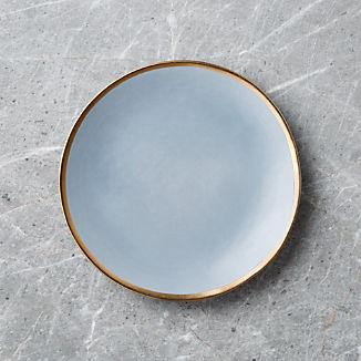 Addison Grey Gold Rim Salad Plate