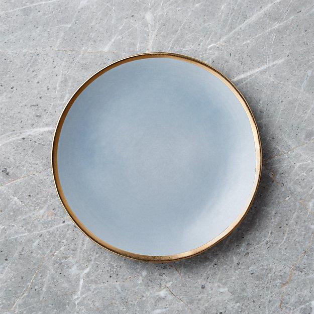 Addison Grey Gold Rim Salad Plate - Image 1 of 6