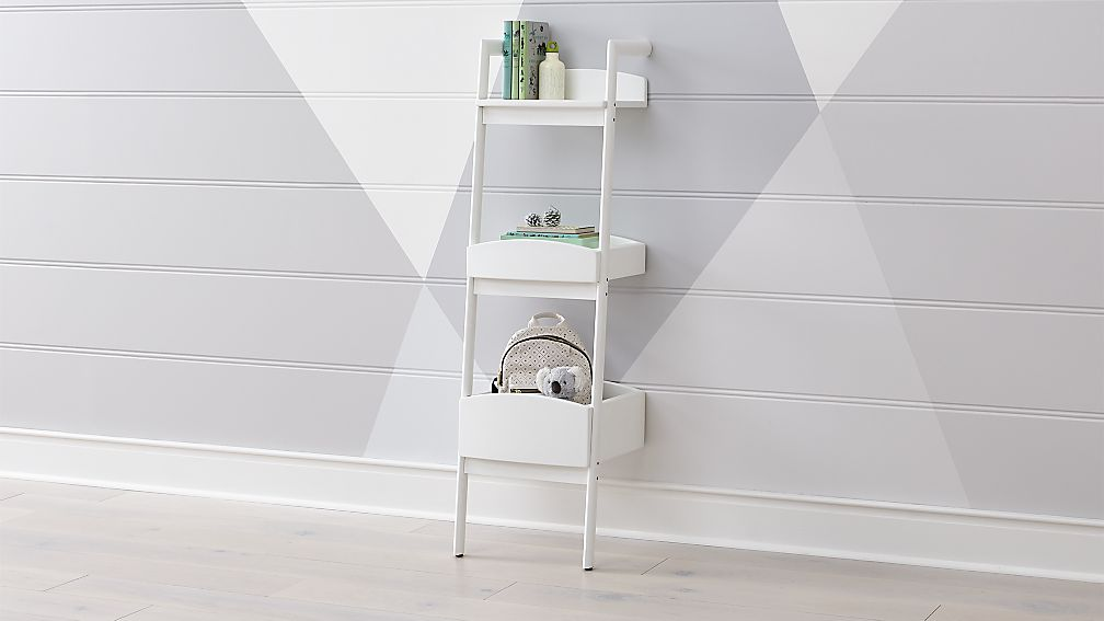 Addison White Leaning Bookcase + Reviews