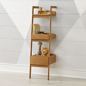 Addison Wood Leaning Bookcase Kids
