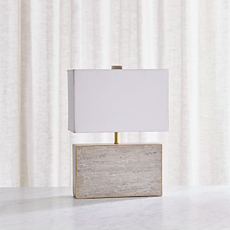 Adele Taupe Marble Table Lamp