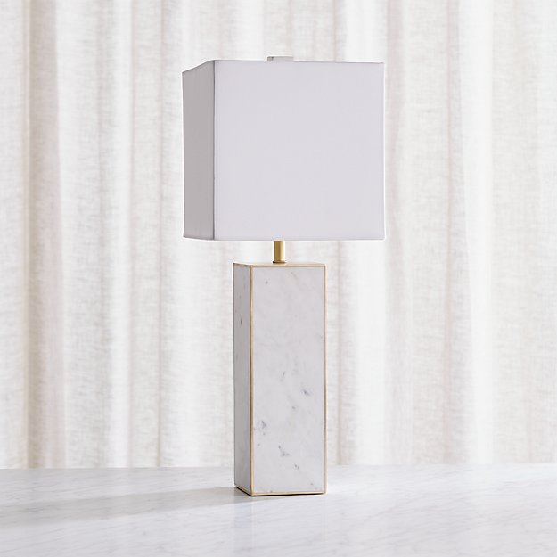 Adele White Marble Table Lamp Reviews Crate And Barrel