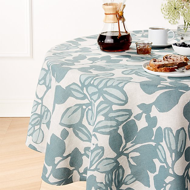 "Adeline Linen 60"" Round Tablecloth"