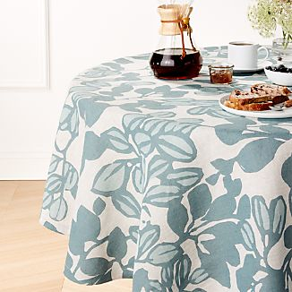 """Adeline Linen 60"""" Round Tablecloth"""
