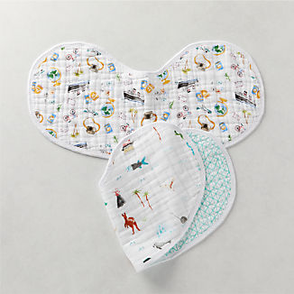 aden + anais Around the World Burpy Bibs, Set of 2