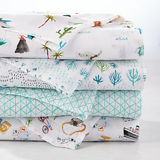 aden + anais Around the World Swaddle Blankets, Set of 4