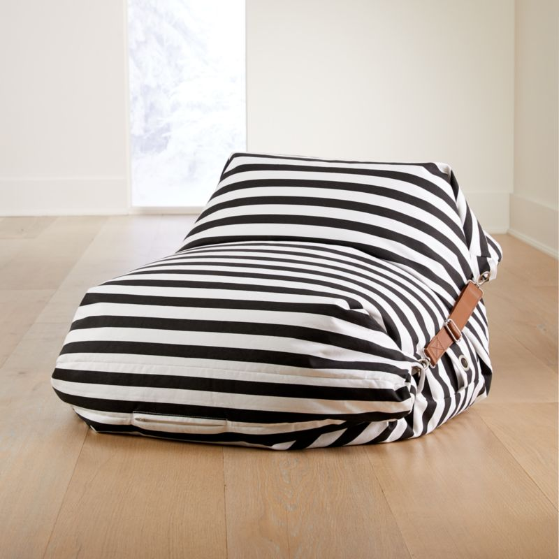 Fabulous Adjustable Black And White Stripe Bean Bag Chair Alphanode Cool Chair Designs And Ideas Alphanodeonline