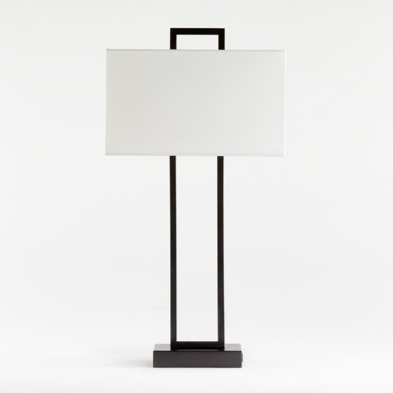 Adler Black Rectangle Table Lamp With