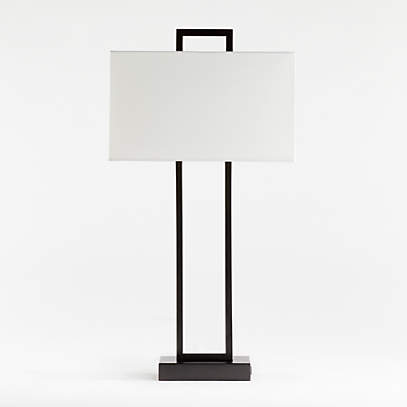 Adler Black Rectangle Table Lamp With Usb Reviews Crate And Barrel Canada,How To Design An Office At Home