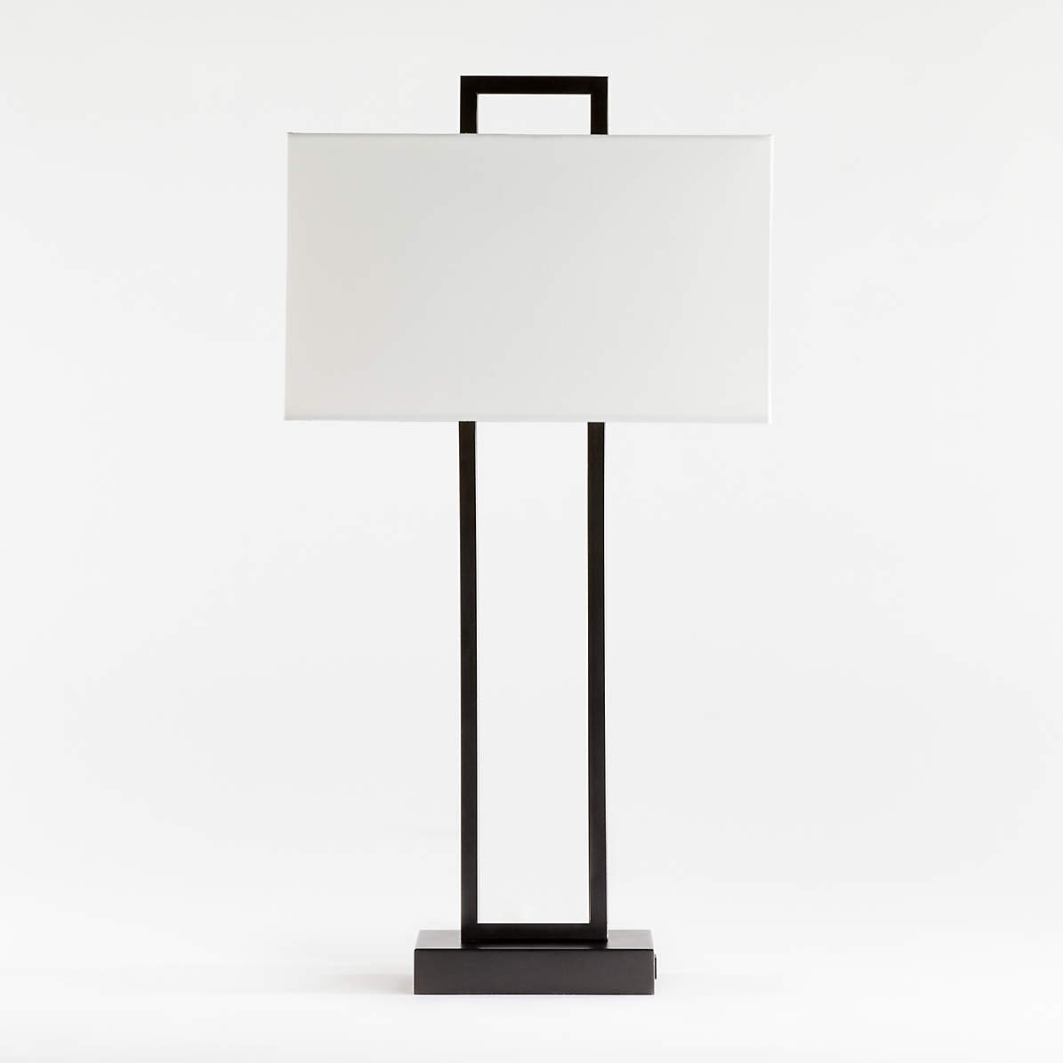 Picture of: Adler Black Rectangle Table Lamp With Usb Reviews Crate And Barrel