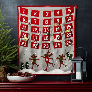 Skating Reindeer Felt Advent Calendar