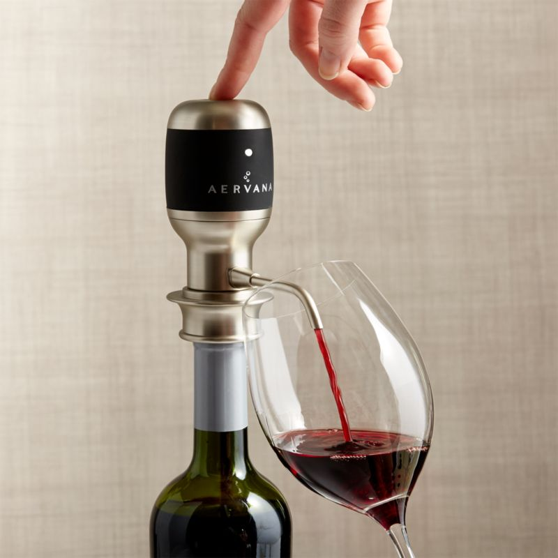 Aervana Electric Wine Aerator Reviews Crate And Barrel