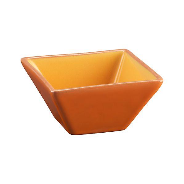 Agave Square Orange Bowl
