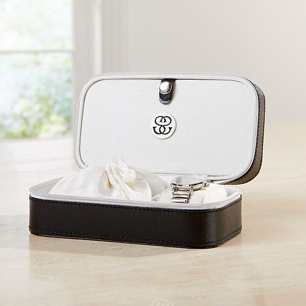 Agency Small Black Jewelry Box Reviews Crate And Barrel