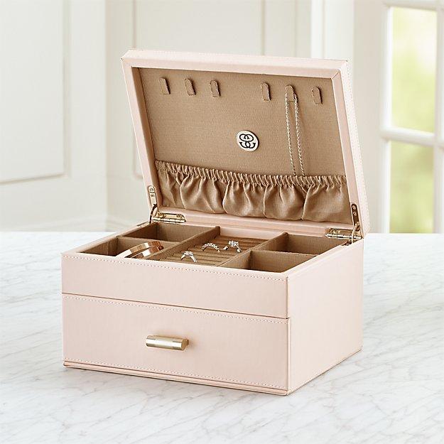 7cd268beda814 Agency Medium Pale Pink Jewelry Box + Reviews