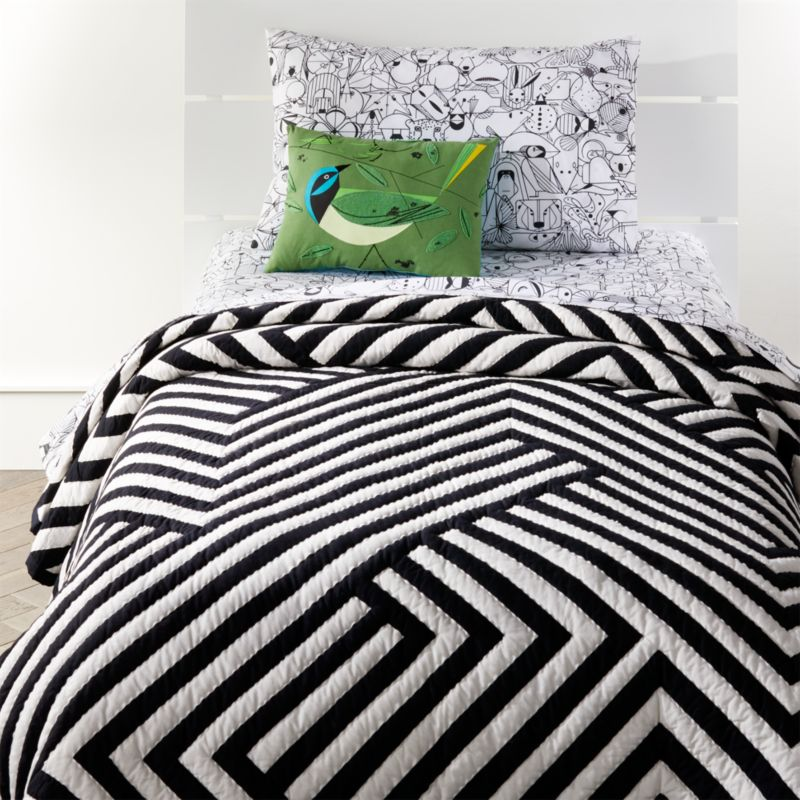 Black Amp White Geometric Quilt Crate And Barrel