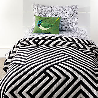 Black and White Geometric Quilt