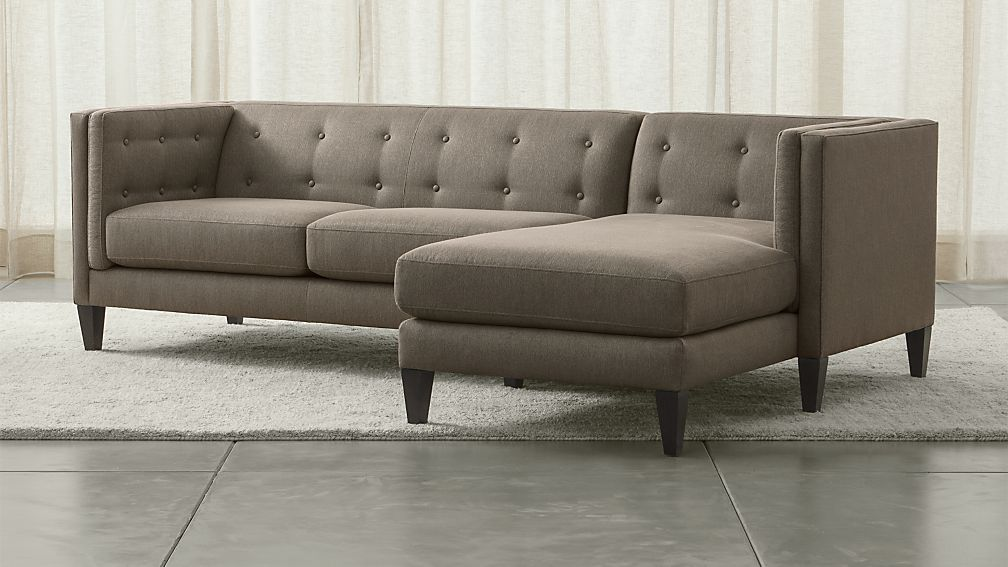 Aidan Grey L Shaped Sectional Reviews Crate And Barrel