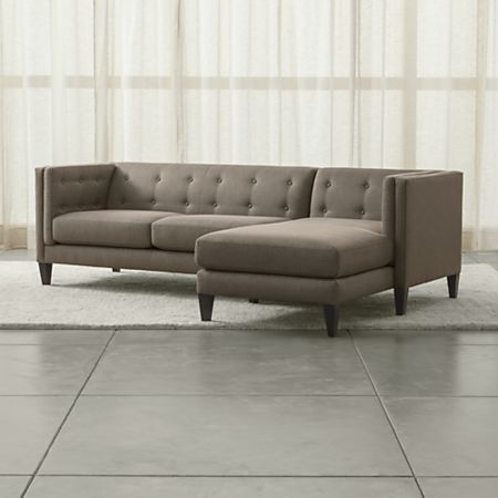 Aidan 2-Piece Right Arm Chaise Tufted Sectional Sofa