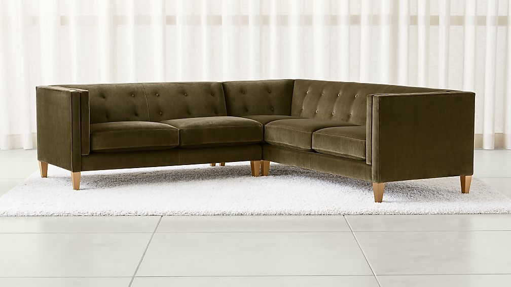 Aidan Olive Green Sectional Sofa Reviews