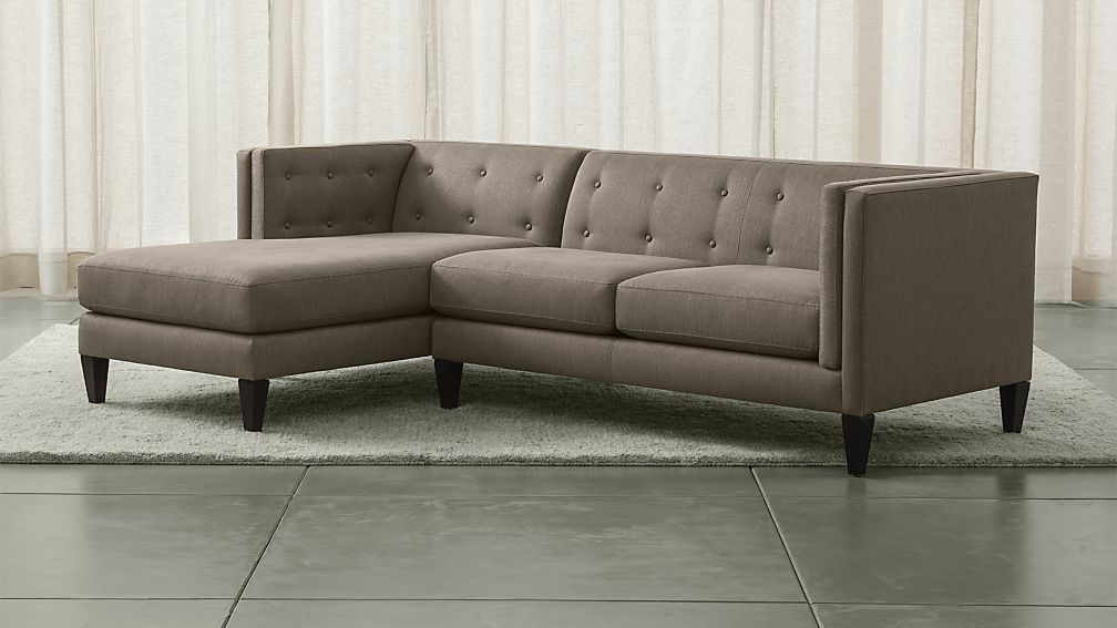 Aidan Grey 2Piece Sectional Sofa Crate and Barrel