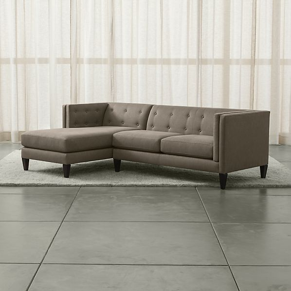 Aidan 2-Piece Left Arm Chaise Tufted Sectional Sofa
