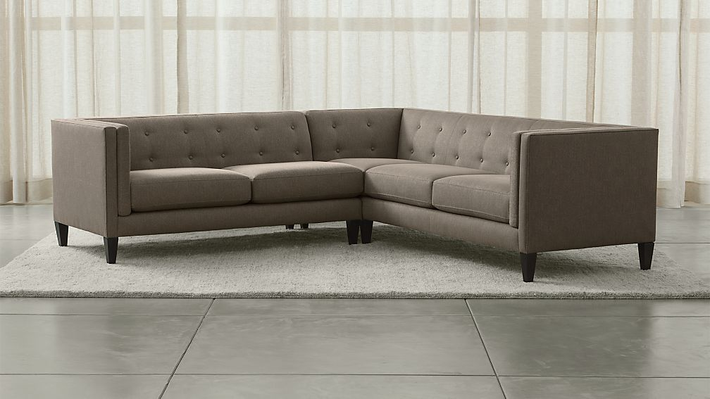 Aidan 2-Piece Right Arm Corner Tufted Sectional Sofa