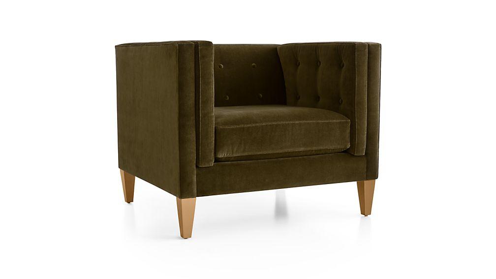 """Aidan Velvet 38"""" Chair"""
