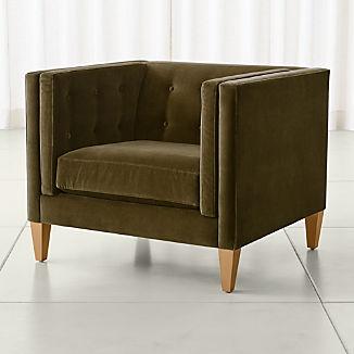 Aidan Velvet 38 Tufted Chair